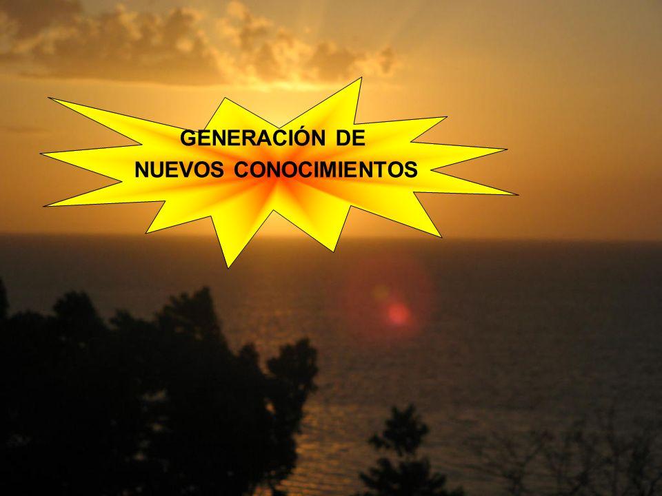 GENERACIÓN DE NUEVOS CONOCIMIENTOS