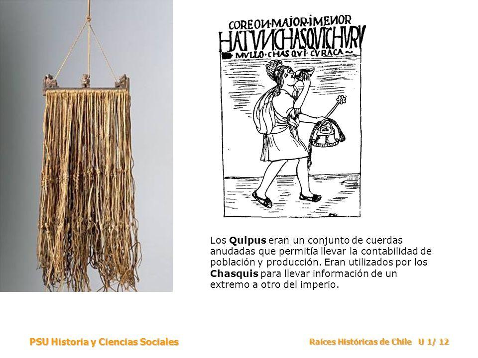Los Quipus eran un conjunto de cuerdas anudadas que permitía llevar la contabilidad de población y producción. Eran utilizados por los Chasquis para llevar información de un extremo a otro del imperio.