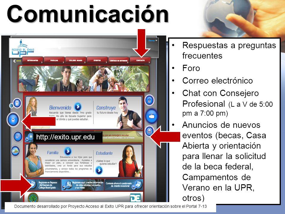 Comunicación Respuestas a preguntas frecuentes Foro Correo electrónico