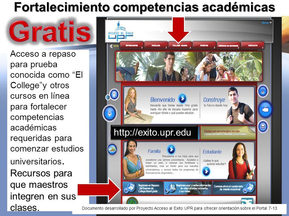Proyecto Acceso al Exito UPR Vicepresidencia Asuntos Estudiantiles
