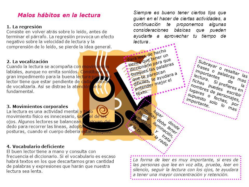 Malos hábitos en la lectura