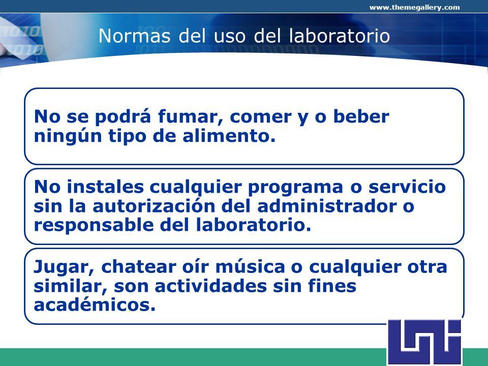Normas del uso del laboratorio