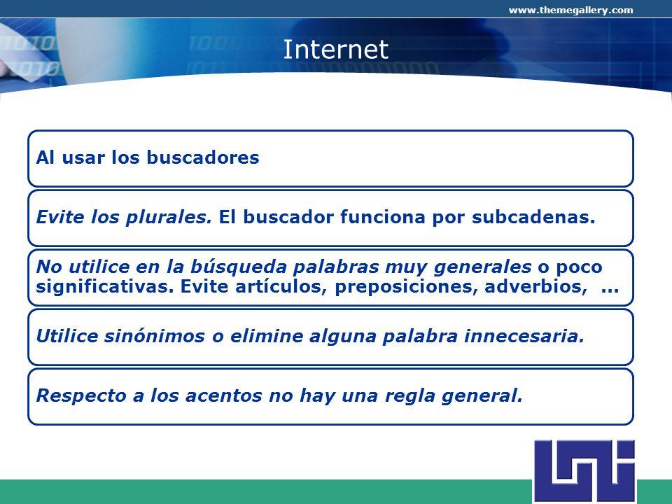 Internet Al usar los buscadores