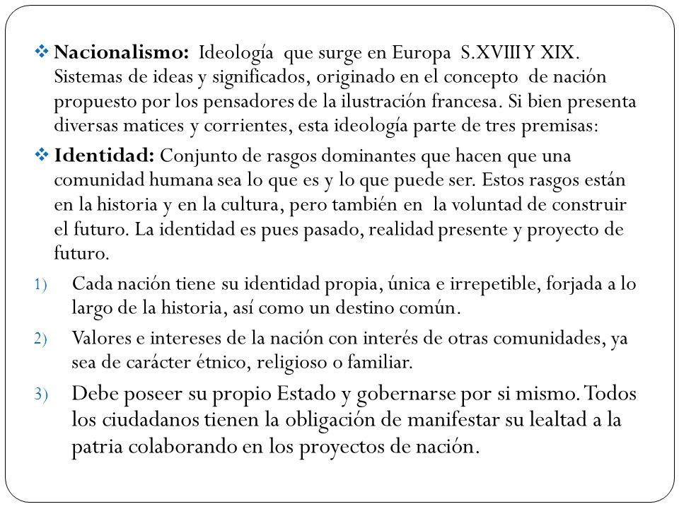 Nacionalismo: Ideología que surge en Europa S. XVIII Y XIX