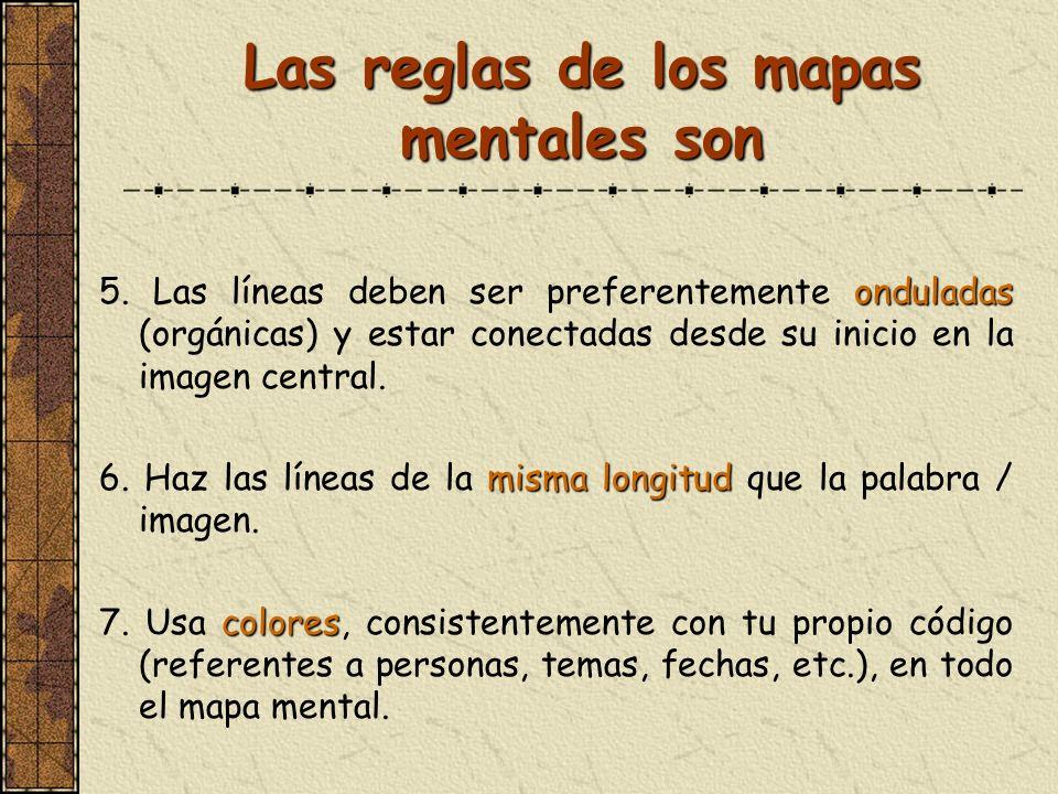 Las reglas de los mapas mentales son