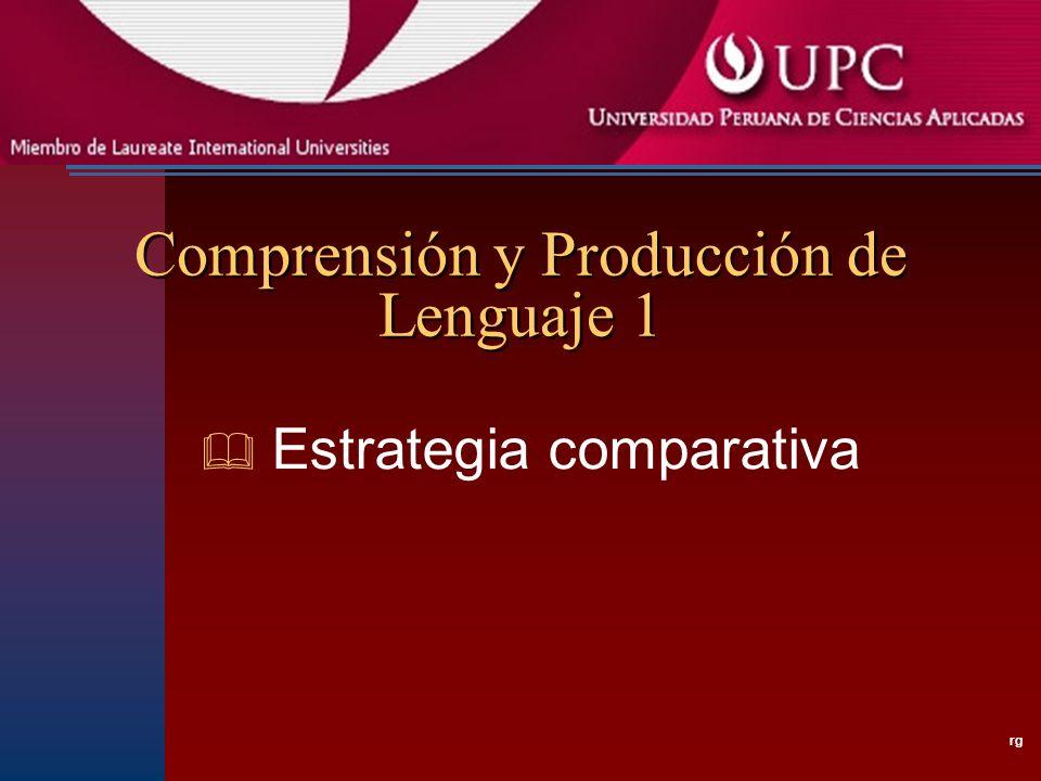 Comprensión y Producción de Lenguaje 1