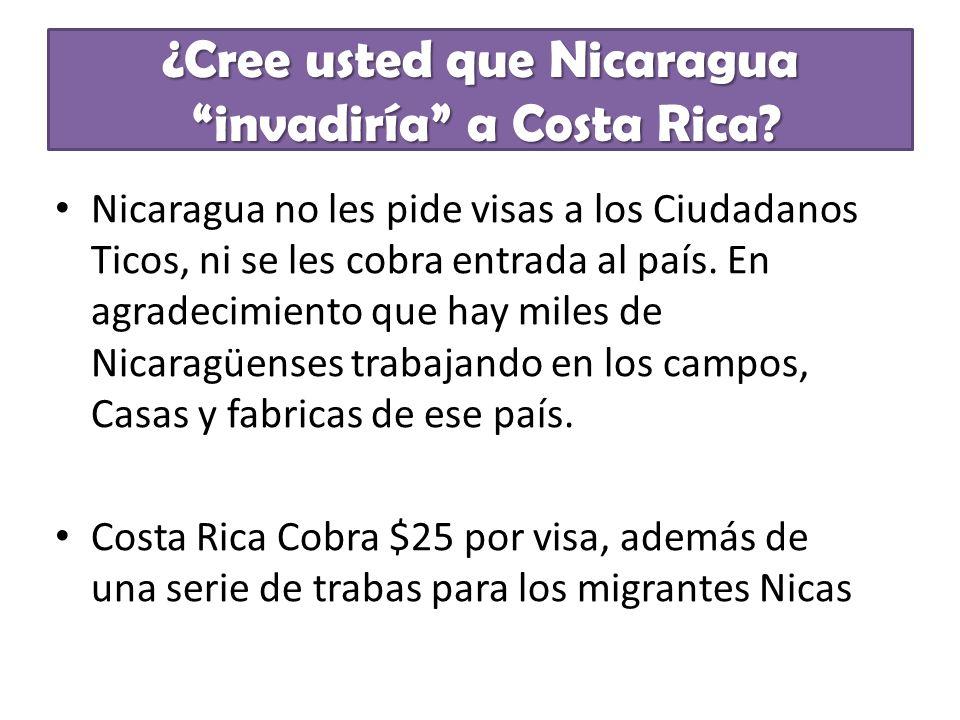 ¿Cree usted que Nicaragua invadiría a Costa Rica