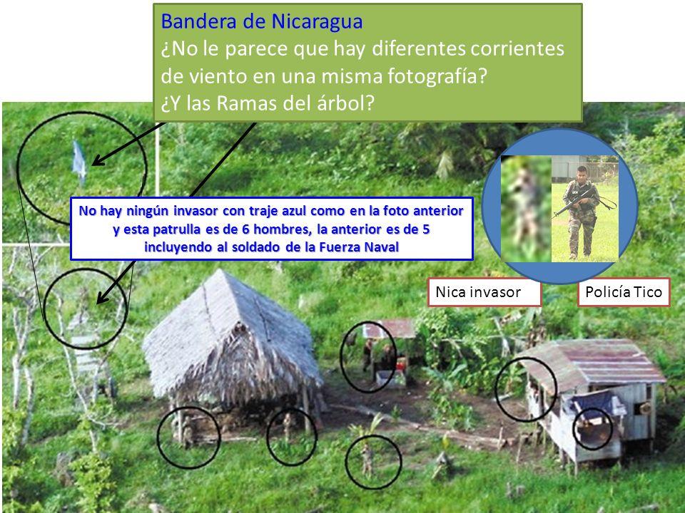 Bandera de Nicaragua ¿No le parece que hay diferentes corrientes de viento en una misma fotografía