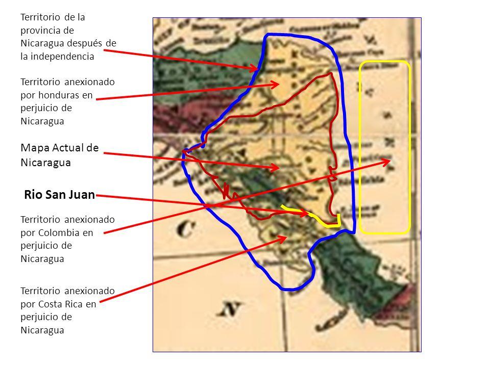 Rio San Juan Mapa Actual de Nicaragua
