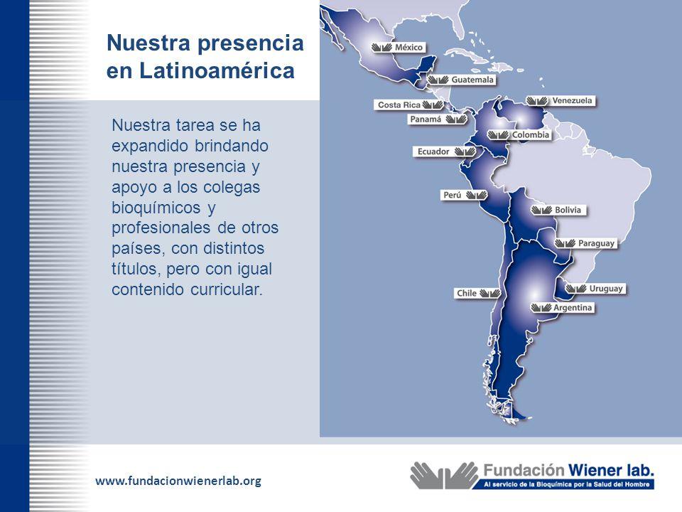 Nuestra presencia en Latinoamérica