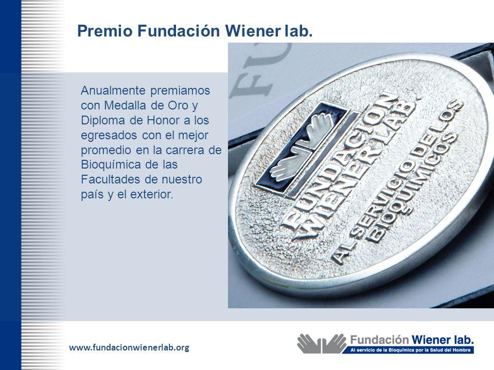Premio Fundación Wiener lab.