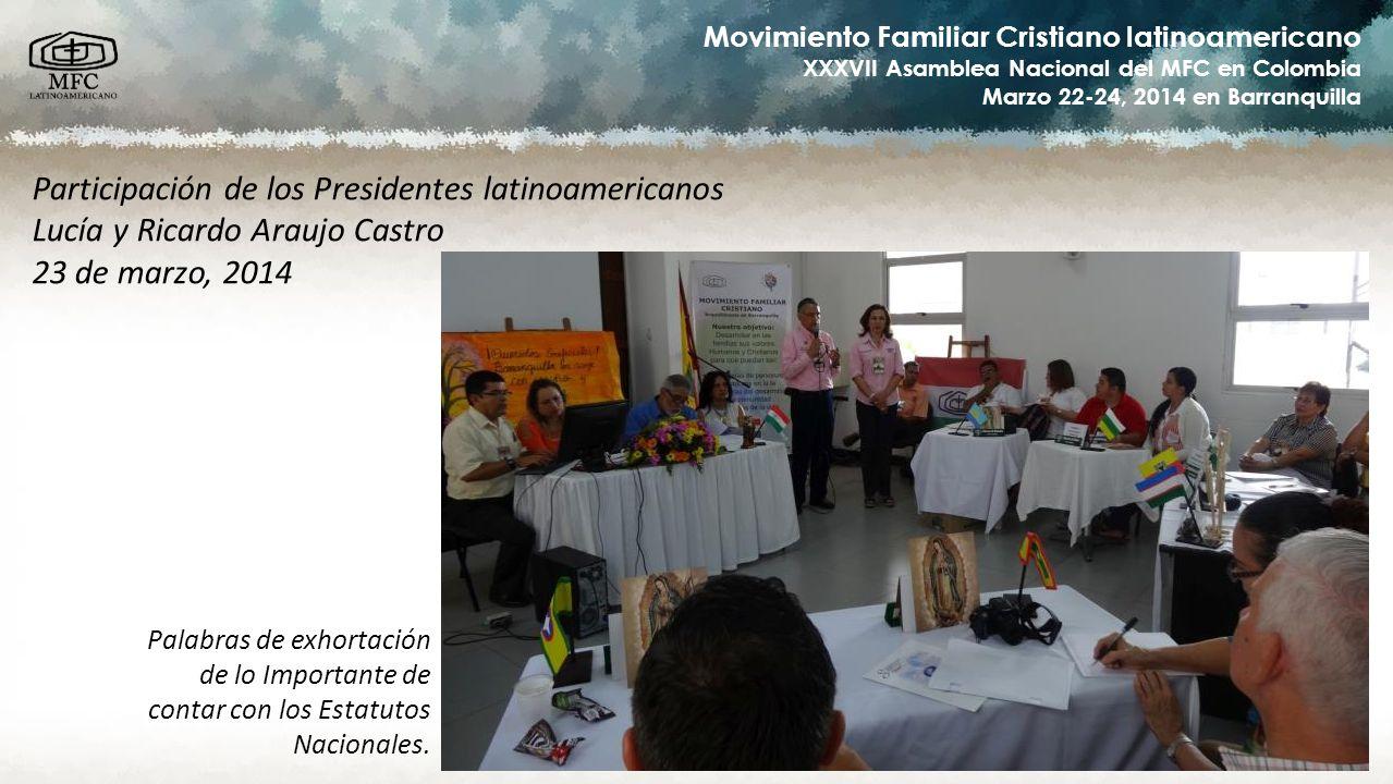 Participación de los Presidentes latinoamericanos