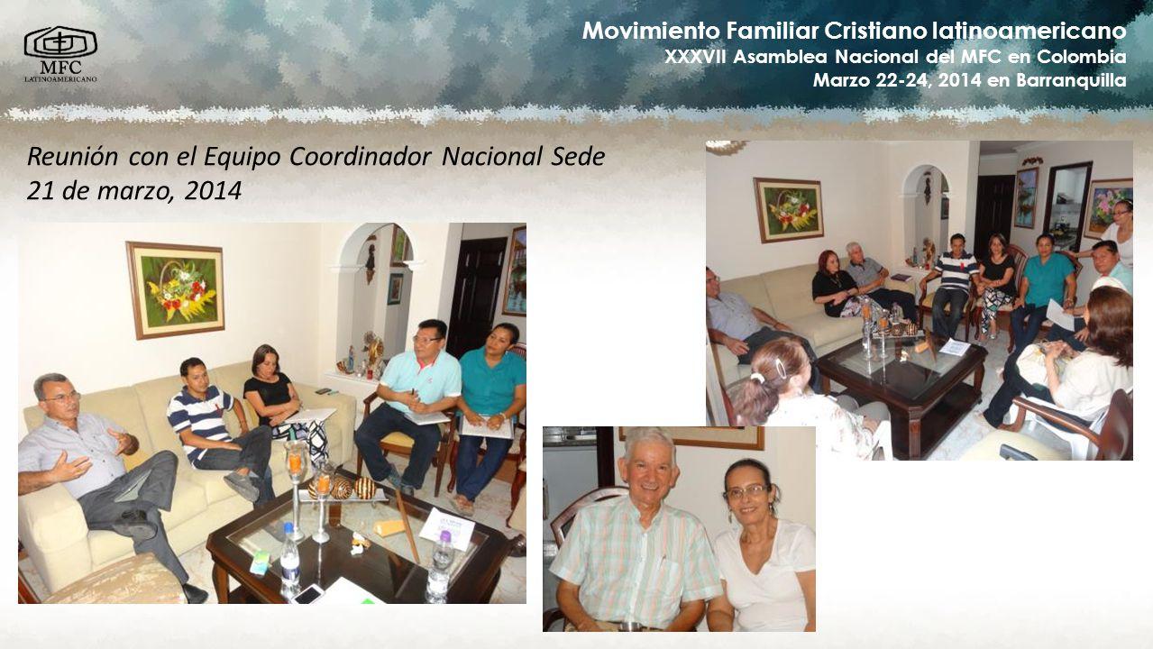 Reunión con el Equipo Coordinador Nacional Sede