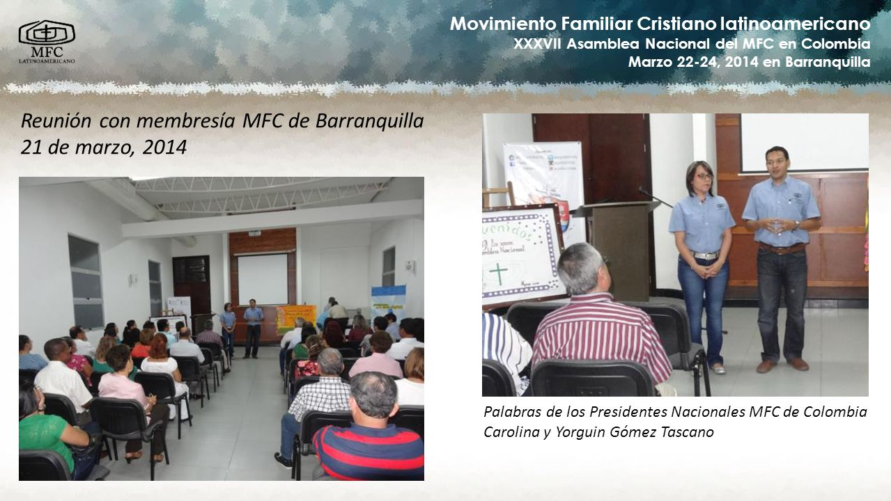 Reunión con membresía MFC de Barranquilla 21 de marzo, 2014