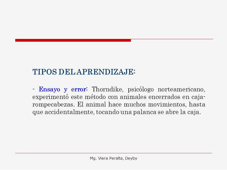 TIPOS DEL APRENDIZAJE: