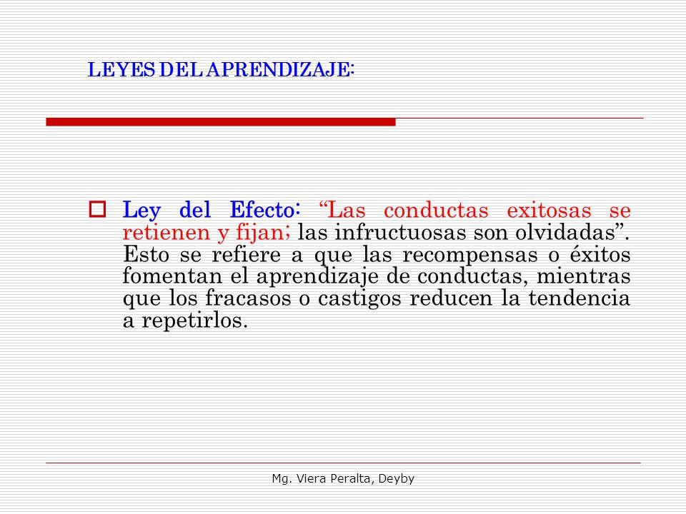 LEYES DEL APRENDIZAJE:
