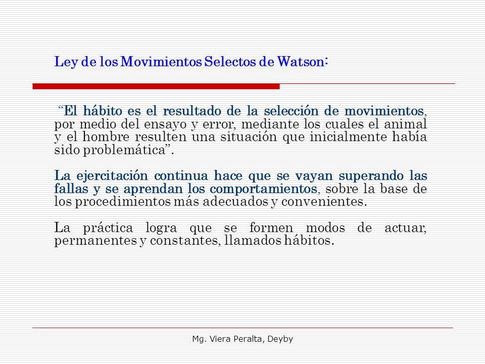Ley de los Movimientos Selectos de Watson: