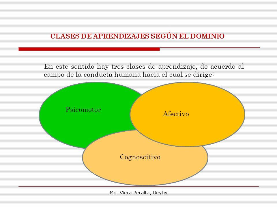 CLASES DE APRENDIZAJES SEGÚN EL DOMINIO