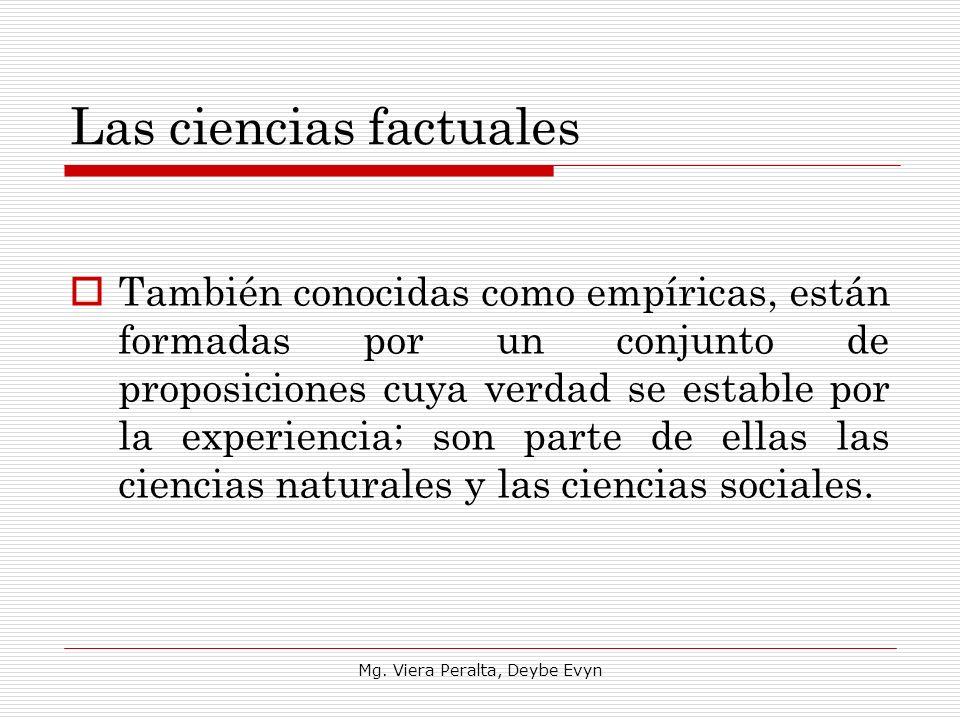 Las ciencias factuales