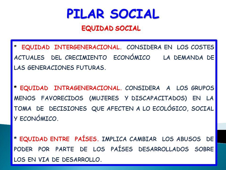 PILAR SOCIAL EQUIDAD SOCIAL