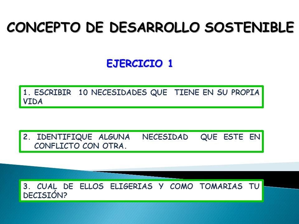 CONCEPTO DE DESARROLLO SOSTENIBLE
