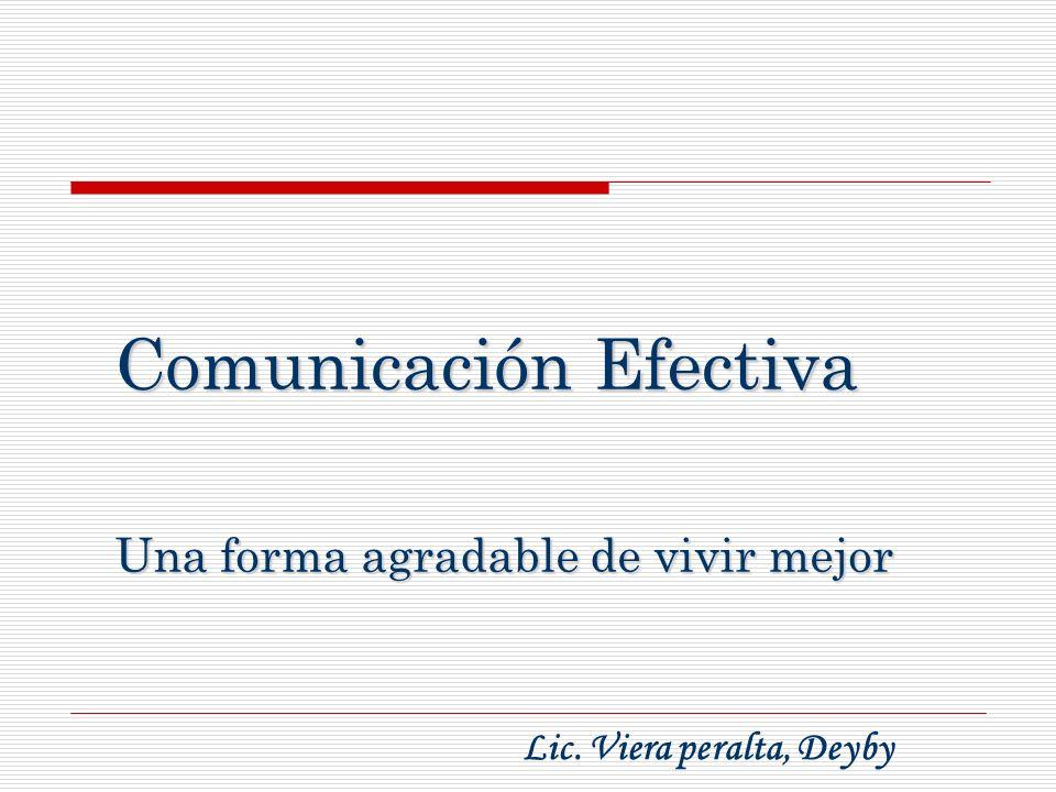 Comunicación Efectiva Una forma agradable de vivir mejor