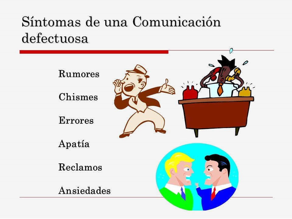 Síntomas de una Comunicación defectuosa