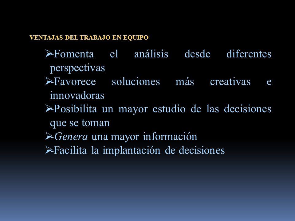 -Fomenta el análisis desde diferentes perspectivas