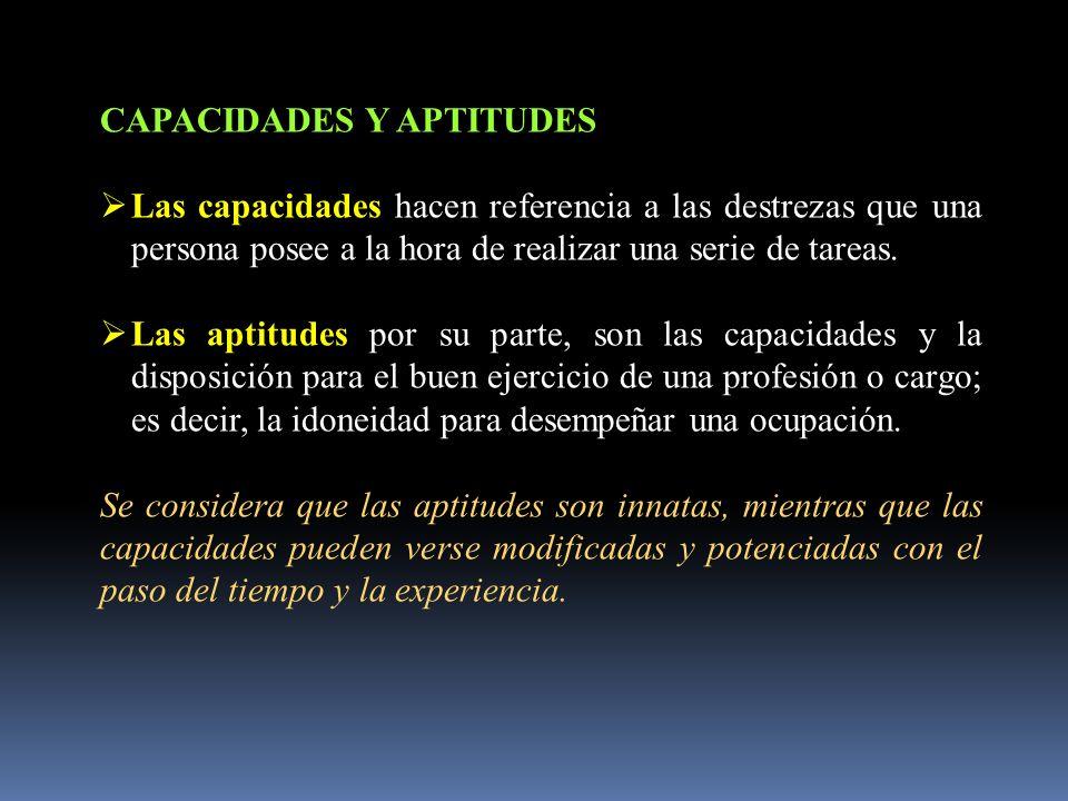 CAPACIDADES Y APTITUDES