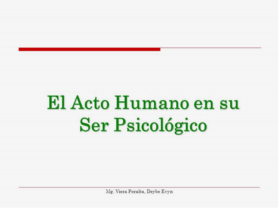 El Acto Humano en su Ser Psicológico