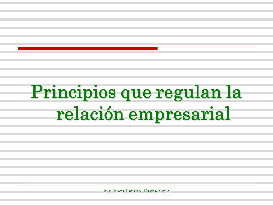 Principios que regulan la relación empresarial