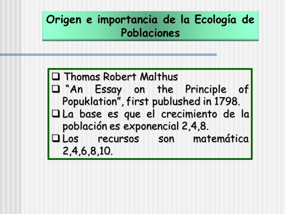 Origen e importancia de la Ecología de Poblaciones