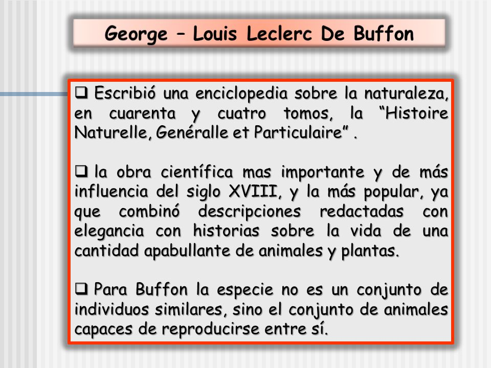 George – Louis Leclerc De Buffon