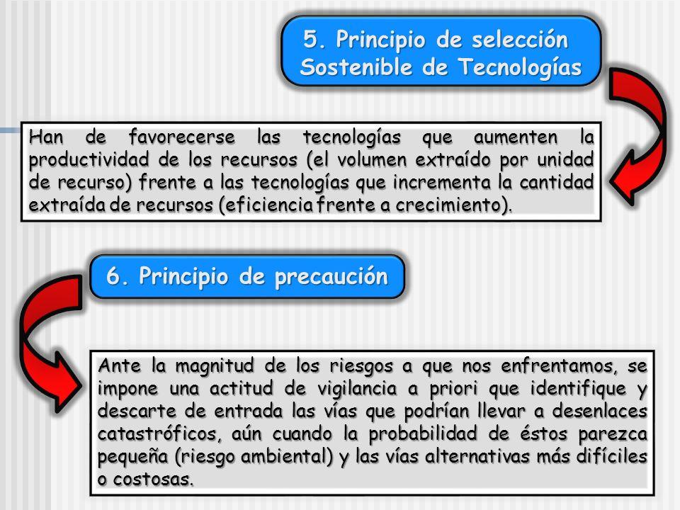 5. Principio de selección Sostenible de Tecnologías