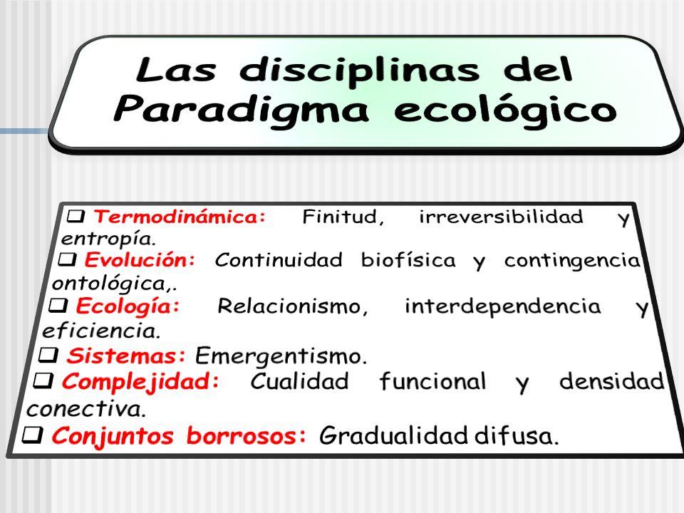 Las disciplinas del Paradigma ecológico