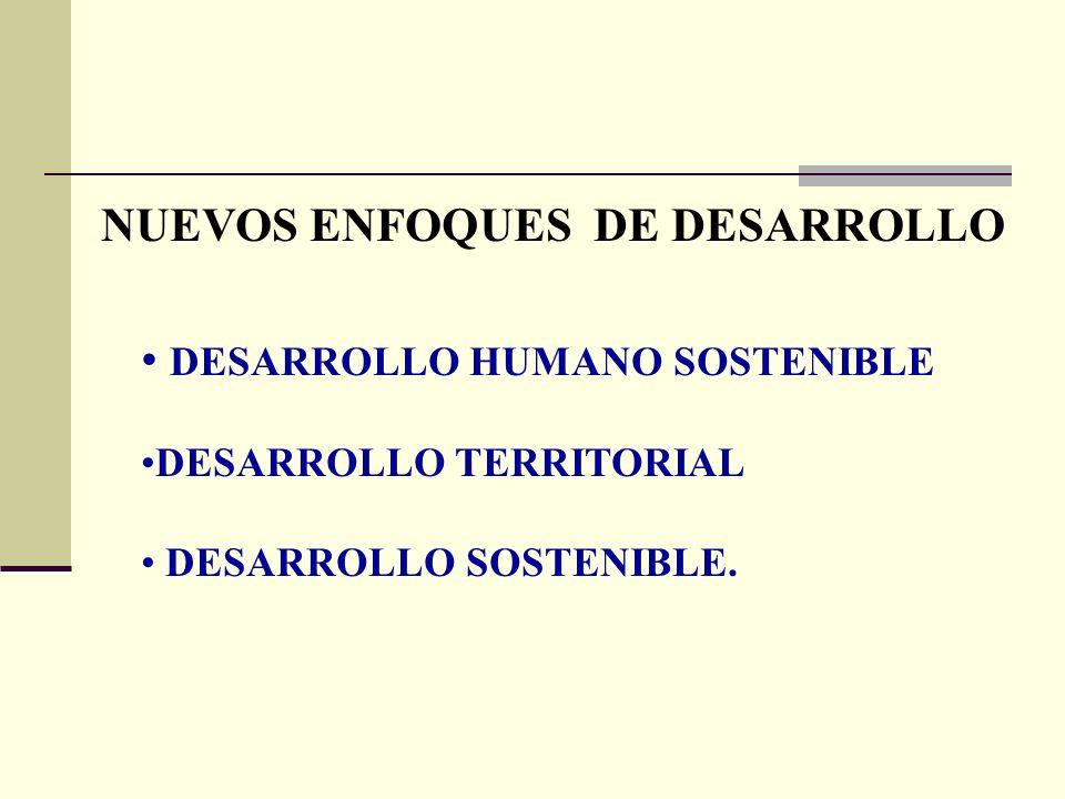 NUEVOS ENFOQUES DE DESARROLLO