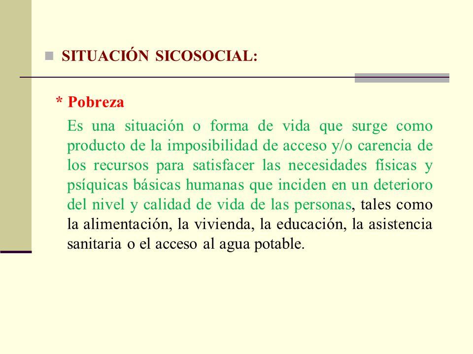 SITUACIÓN SICOSOCIAL: