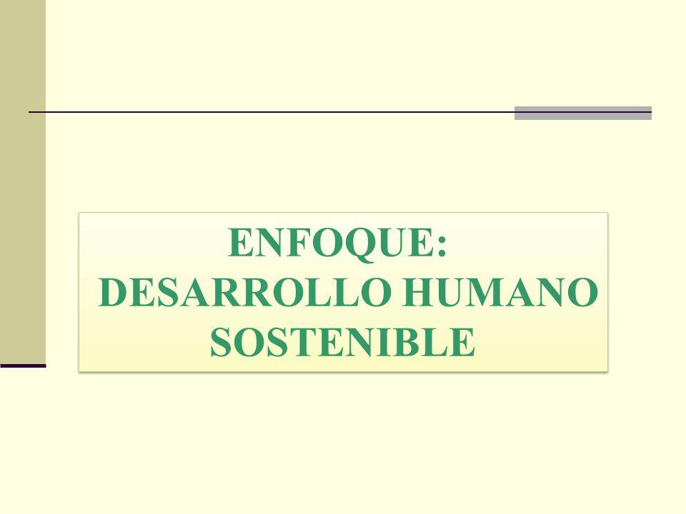 ENFOQUE: DESARROLLO HUMANO SOSTENIBLE
