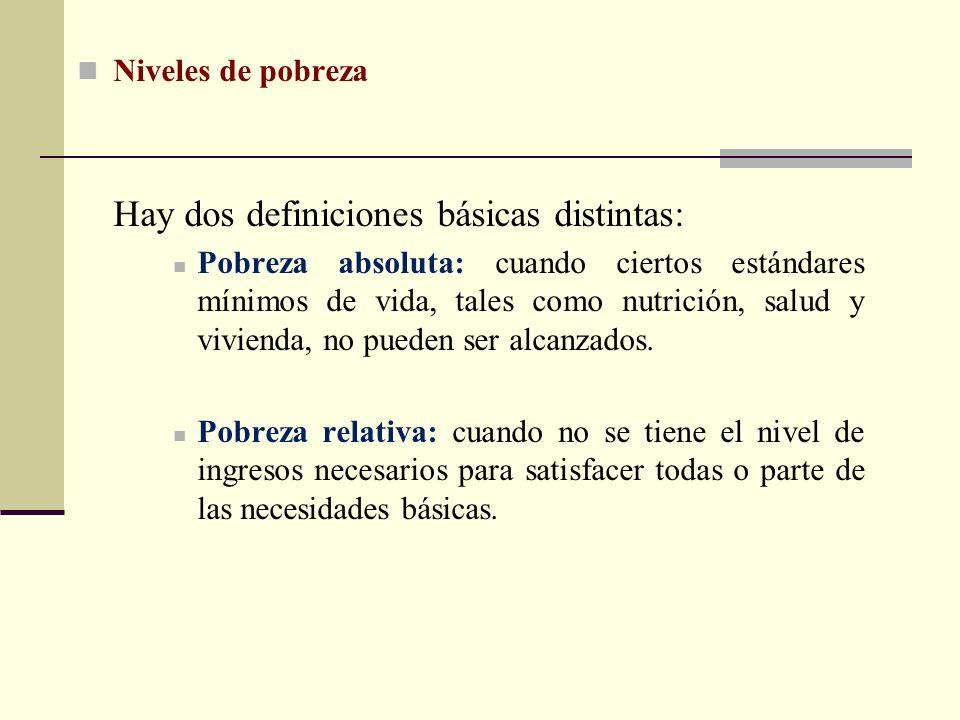 Hay dos definiciones básicas distintas: