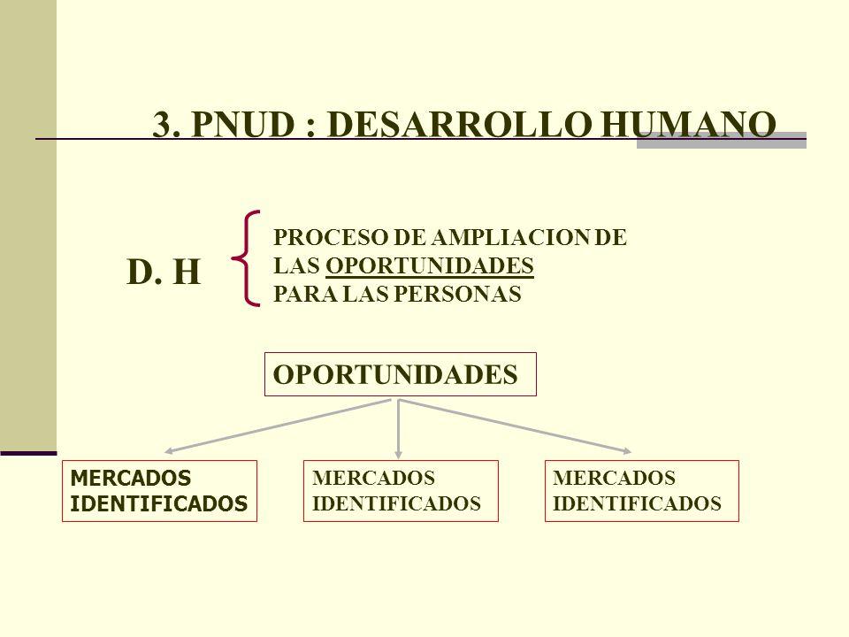 3. PNUD : DESARROLLO HUMANO