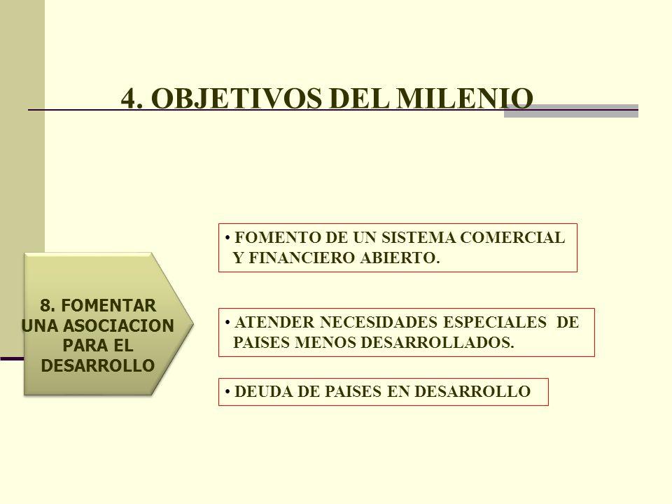 4. OBJETIVOS DEL MILENIO FOMENTO DE UN SISTEMA COMERCIAL