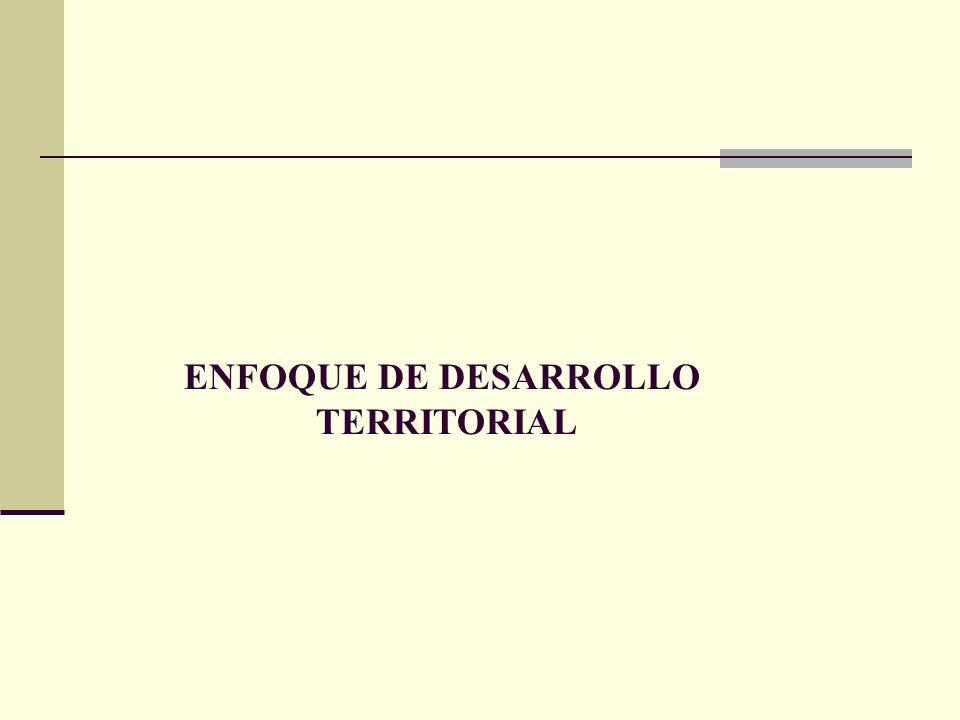 ENFOQUE DE DESARROLLO TERRITORIAL