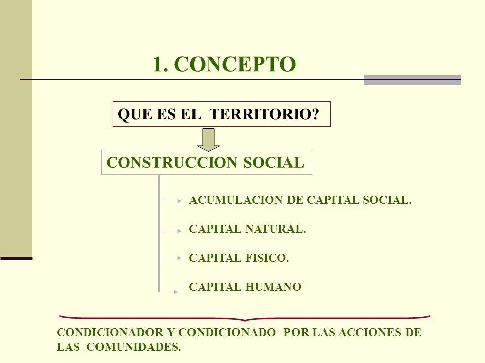 1. CONCEPTO QUE ES EL TERRITORIO CONSTRUCCION SOCIAL