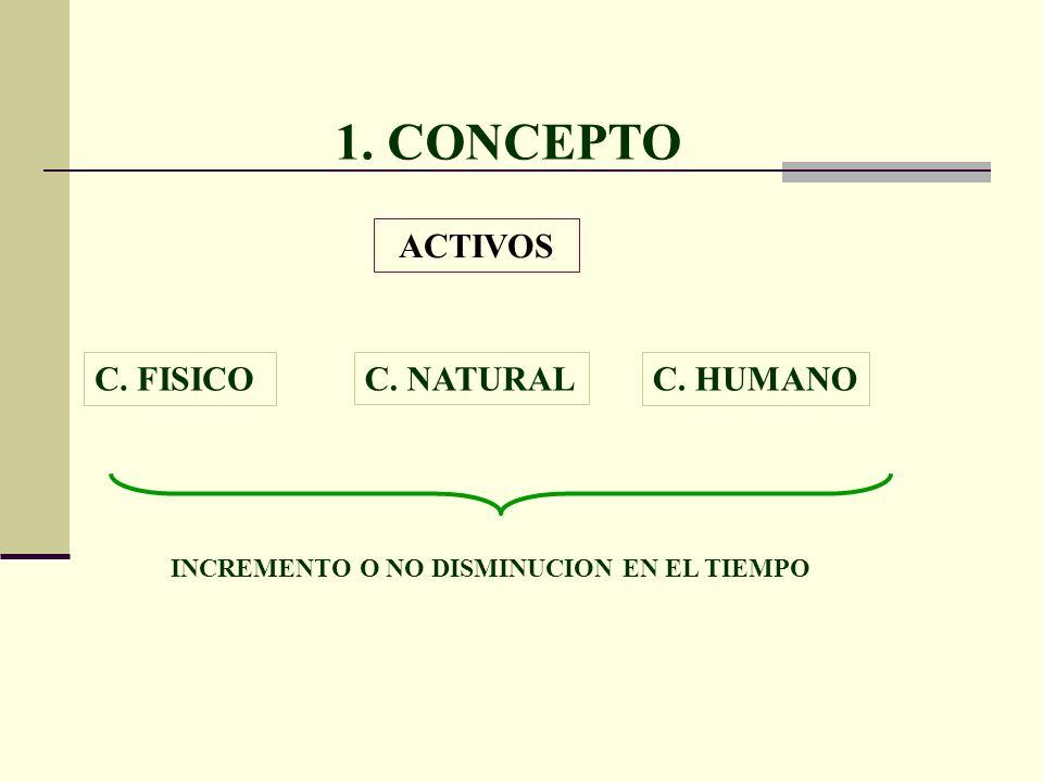 1. CONCEPTO ACTIVOS C. FISICO C. NATURAL C. HUMANO