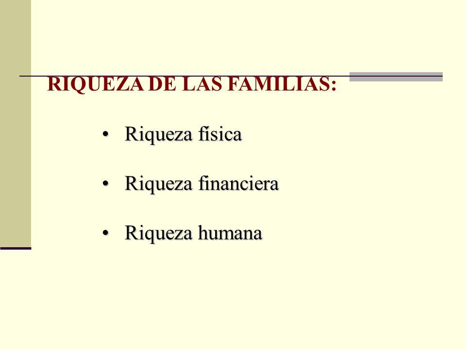 RIQUEZA DE LAS FAMILIAS: