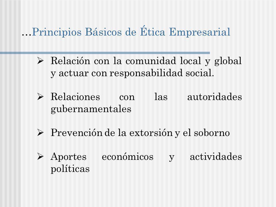 …Principios Básicos de Ética Empresarial