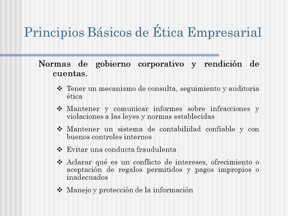 Principios Básicos de Ética Empresarial
