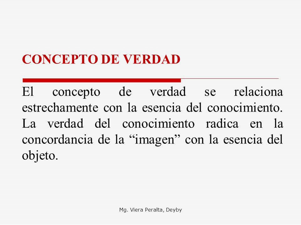 CONCEPTO DE VERDAD