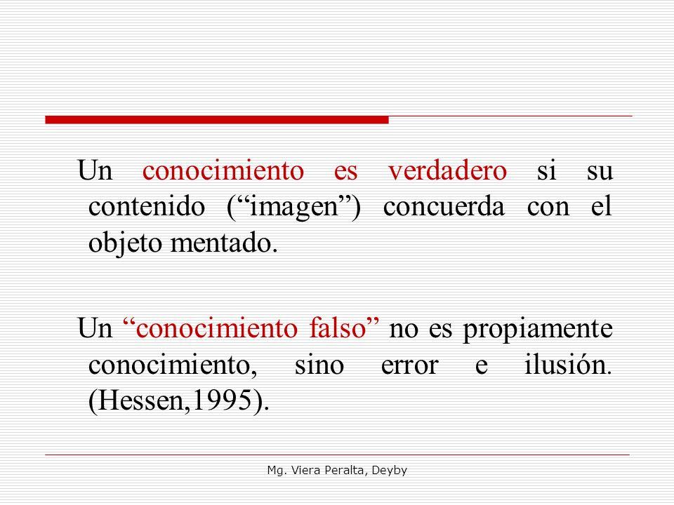 Un conocimiento es verdadero si su contenido ( imagen ) concuerda con el objeto mentado.