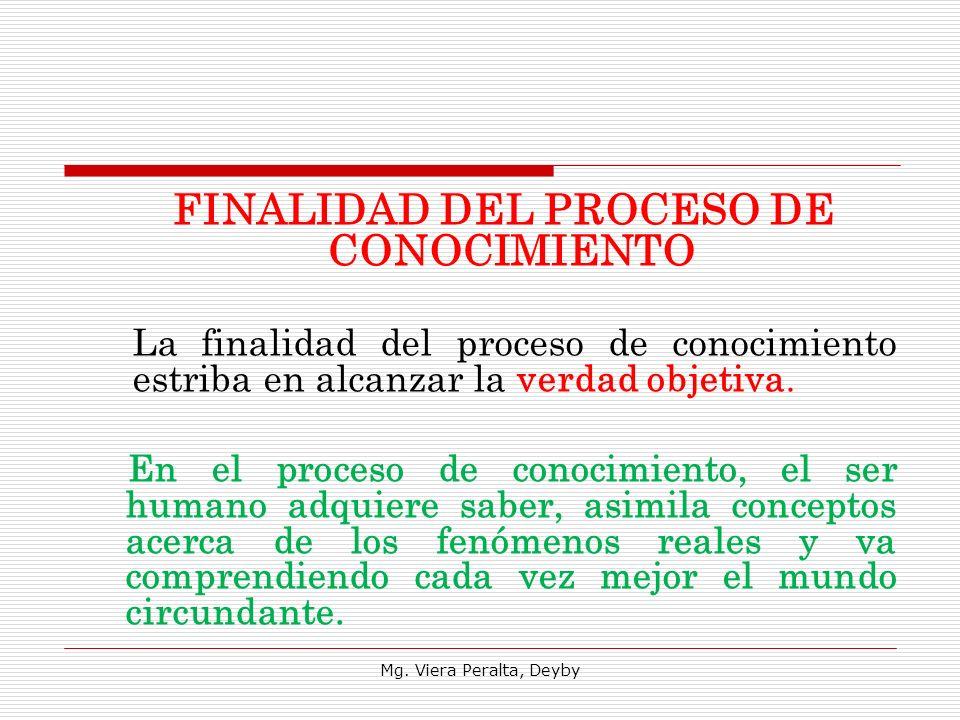 FINALIDAD DEL PROCESO DE CONOCIMIENTO